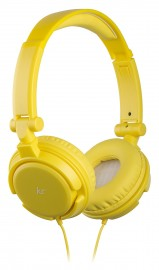 KitSound iD Audio On-Ear Headphones with In-Line Mic - Yellow