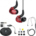 Shure SE535 Sound Isolating™ Earphones with Bluetooth & UNI Cable - Red