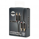 Techlink EPP Series 2x RCA/Phono Plugs to 2x RCA/Phono Plugs - 1m