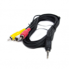 AV:Link 112.120UK 3.5mm Stereo Jack to 3 x RCA Video Lead - 2m