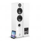 Elipson Prestige Facet 14F BT Bluetooth Floor Standing Speaker - White