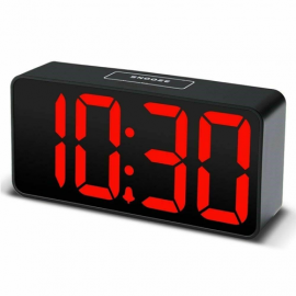 acctim Phoenix with 2 USB Ports Smart Connector® Jumbo LED Digital Alarm Clock
