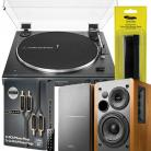 NEW Audio-Technica LP60XBT BUNDLE with Edifier R1280DB (Wood or Black)