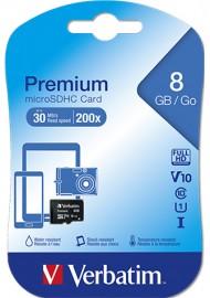 Verbatim 44012 8GB mSD Micro SD Card Class 10