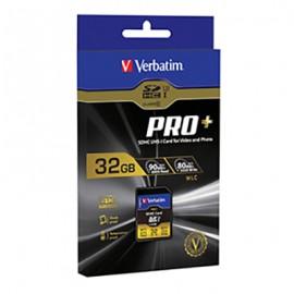 Verbatim ProPlus SDHC Memory Card, 49196 32GB, 600X, UHS-1, U3 Class 10