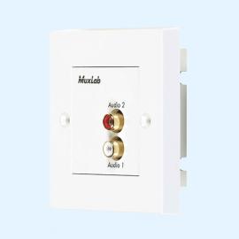 MuxLab 500028-WP-UK Stereo Hi-Fi Wall Balun