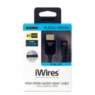 Techlink 710392 iWires HDMI A Plug to HDMI Micro D Plug - 2m