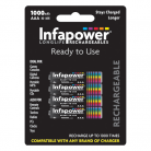 Infapower B002 4 AAA 1000mAh Rechargeable Batteries