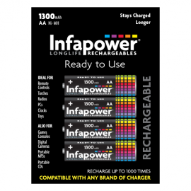 Infapower B003 4 AA 1300mAh Rechargeable Batteries