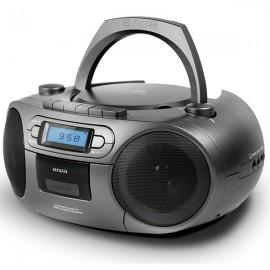 AIWA Portable BOOMBOX with Bluetooth, CD, FM Radio, Cassette, Clock & USB
