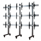 B-Tech System X Universal Mobile Video Wall Stand for 3x3 Video Walls, 46 - 60