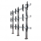 B-Tech System X 3x3 Universal Bolt Down Video Wall Stand, Screens 46 - 60