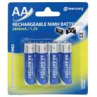 Mercury AA Size - 2800mA NiMH Rechargeable Batteries