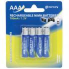 Mercury AAA Size - 700mA NiMH Rechargeable Batteries
