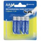 Mercury AAA Size - 1100mA NiMH Rechargeable Batteries