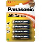 Panasonic AA (LR6) Size - Alkaline Bronze Range - 4 Pack