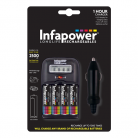 Infapower C006 1 Hour Battery Charger + 4 AA 2500mAh Rechargable Batteries