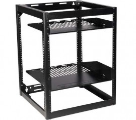 "SANUS 26"" Tall AV Rack 15U Stackable Skeleton Rack"