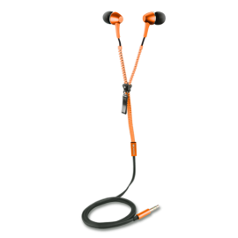 Canyon TEP1O Zipper Cable Earphones (Orange)