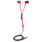 Canyon TEP1R Zipper Cable Earphones (Red)