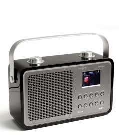 Tangent DAB2go+ Bluetooth/DAB+/FM Rechargeable Portable Radio - Black