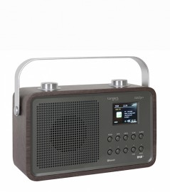 Tangent DAB2go+ Bluetooth/DAB+/FM Rechargeable Portable Radio - Walnut