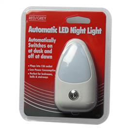 Red/Grey LED Auto Night Light