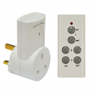 E304AC 1-Way Remote Control Mains Socket Set
