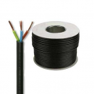 E492B Round 3 Core 1.5mm PVC Flex 15A - Black