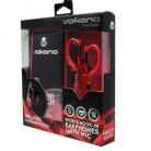 Volkano Haste Series Headphones, Sports Hook In Ear Earphones with Mic