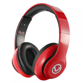 Volkano Impulse Series Over-Ear Multi-Function Bluetooth Headphones - Red