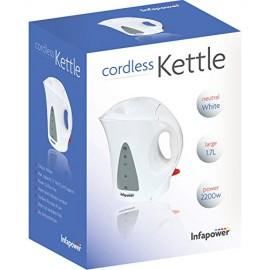 Infapower X501 - 1.7L Cordless Kettle 2200w - White