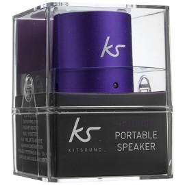 KitSound KSBUTPU Button Portable Speaker - Purple