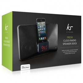 KitSound KSFRESHBK Fresh Lightning Dock Clock Radio Black