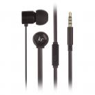 KitSound KSHIVBBK Hive In-Ear Headphones with In-Line Microphone - Black