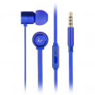 KitSound KSHIVBBL Hive In-Ear Headphones with In-Line Microphone - Blue