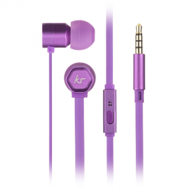KitSound KSHIVBPU Hive In-Ear Headphones with In-Line Microphone - Purple