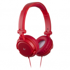KitSound iD Audio On-Ear Headphones with In-Line Mic  - Red
