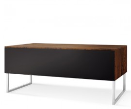 Norstone KHALM 1400mm AV Furniture - Walnut Real Wood Veneer