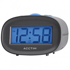 acctim Libra LCD Alarm Clock - Black