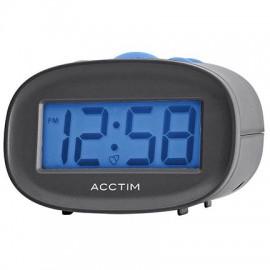 acctim Libra LCD Alarm Clock - Black