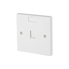 METZ CONNECT Single Port Face Plate