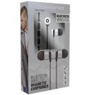 Volkano Mercury Series Magnetic Bluetooth Earphones - Silver & Black