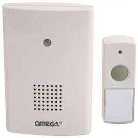 NEW Omega Wireless Plug-in Door Bell 75M Range LED Doorbell