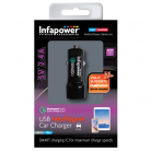 Infapower P035 2400mA Qualcomm 2.0 USB Intelligent Car Charger