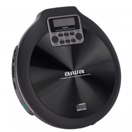 AIWA PCD-810BK Portable CD Player with 120 Second ESP & 8 Hour Playtime