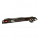 Kauden PDU6/MOV 6-way Horizontal Surge Protected & Filtered Mains PDU