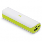 KitSound PWRB2WHKT Universal Power Bank with LED Flashlight - 2,000mAh
