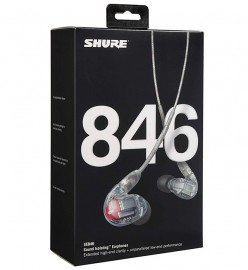 NEW Shure SE846-CL-EFS Sound Isolating Earphones with Quad HD MicroDrivers