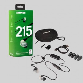Shure SE215 Sound Isolating™ Bluetooth Earphones with Remote & Mic - Clear